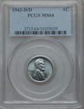 1943-D/D 1C MS64 PCGS. PCGS Population (58/73). NGC Census: (0/0). ...(PCGS# 2715)