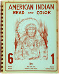 Books:Children's Books, [Eugene H. and Kay Bishoff]. American Indian Read and Color.Albuquerque: Eukabi Publishers, 1952. ...