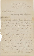 Autographs:Military Figures, William Tecumseh Sherman Autograph Letter Signed....