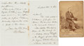 Autographs:Celebrities, Henry Ward Beecher Autograph Letter Signed with Cabinet Card....(Total: 2 Items)