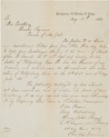 Autographs:Military Figures, Union General Alexander Hays Letter Signed....