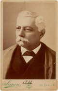 Photography:Cabinet Photos, Confederate General Pierre G. T. Beauregard Cabinet Card Signed...