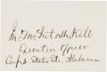 Autographs:Military Figures, Confederate General John M. Kell Signature...