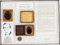 Military & Patriotic:Civil War, Tintypes and ID Disk Attributed to Medal of Honor Recipient Corporal Jacob G. Orth, 28th Pennsylvania Infantry....