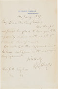 Autographs:U.S. Presidents, Rutherford B. Hayes Autograph Letter Signed as President....