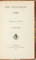 Books:Literature Pre-1900, Thomas Moore. The Epicurean. Chicago: A C. McClurg, 1893.New American edition. ...