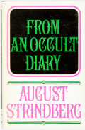 Books:Biography & Memoir, August Strindberg. From an Occult Diary. Marriage withHarriet Bosse. New York: Hill and Wang, [1965]. State...