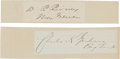 Autographs:Military Figures, Signatures of Two Union Generals Wounded in Action.... (Total: 2 Items)
