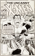 Original Comic Art:Covers, John Romita Jr. and Dan Panosian Uncanny X-Men #302 Cover Colossus Original Art (Marvel, 1993)....