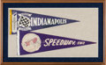 Miscellaneous Collectibles:General, 1930's-40's Indianapolis 500 Souvenir Pennants Lot of 2....