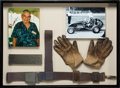 Miscellaneous Collectibles:General, 1954 Leroy Warriner Race Worn Harness & Gloves Display....