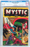 Golden Age (1938-1955):Horror, Mystic Comics V2#1 (Timely, 1944) CGC FN 6.0 Off-white pages....