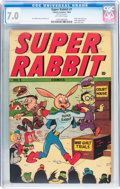 Golden Age (1938-1955):Cartoon Character, Super Rabbit #1 (Timely, 1944) CGC FN/VF 7.0 Off-white pages....