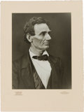 Photography:Studio Portraits, Abraham Lincoln: Pair of 1860 Campaign Photographs by Photographer Alexander Hesler.... (Total: 2 Items)
