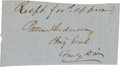 Autographs:Military Figures, Confederate General James Patton Anderson Clipped Signature...