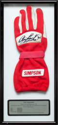 Miscellaneous Collectibles:General, 1996 Arie Luyendyk Race Worn, Signed Glove....