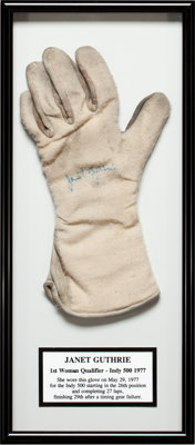 1977 Janet Guthrie Indianapolis 500 Race Worn Glove