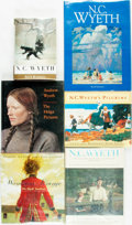 Books:Art & Architecture, [N. C. and Andrew Wyeth]. Group of Six Books. One (N. C. Wyeth, a Biography) signed by the author. Various publishers a... (Total: 6 Items)