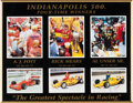 Miscellaneous Collectibles:General, 1990's Indianapolis 500 Poster Signed by Four-Time Winners....
