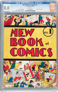 New Book of Comics #1 (DC, 1937) CGC VF 8.0 White pages