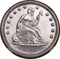 Proof Seated Quarters, 1860 25C PR65 Cameo NGC....