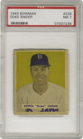 Baseball Cards:Singles (1940-1949), 1949 Bowman Duke Snider #226 PSA NM 7. The Brooklyn Dodgers' Hallof Fame center fielder has every reason to smile, as this...