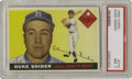 Baseball Cards:Singles (1950-1959), 1955 Topps Duke Snider #210 PSA NM 7. The prized possession of manya young kid in Flatbush, particularly during this most ...