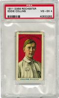 Baseball Cards:Singles (Pre-1930), 1911 D359 Rochester Eddie Collins PSA VG-EX 4. Considered among thescarcest of all early century bakery issues is this mag...