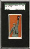 Baseball Cards:Singles (Pre-1930), 1910 E93 Standard Caramel Co. Ty Cobb SGC 80 EX/NM 6. The most valuable card in this ultra-tough thirty card candy issue is...