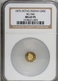 California Fractional Gold, 1875 50C BG-946 MS63 Prooflike NGC. . NGC Census: (5/3).(#710804)...
