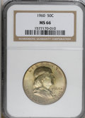 Franklin Half Dollars: , 1960 50C MS66 NGC. . NGC Census: (21/0). PCGS Population (16/0).Mintage: 6,000,000. Numismedia Wsl. Price for NGC/PCGS coi...