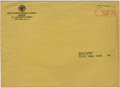 Memorabilia:Comic-Related, EC Comics Subscription Postcard and Envelope (1955).... (Total: 2 Items)