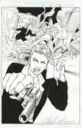 Original Comic Art:Splash Pages, Louis Small Jr., Billy Tan, John Livesay and D-Tron - Witchblade#36, Splash page 20 Original Art (Image, 1999)....