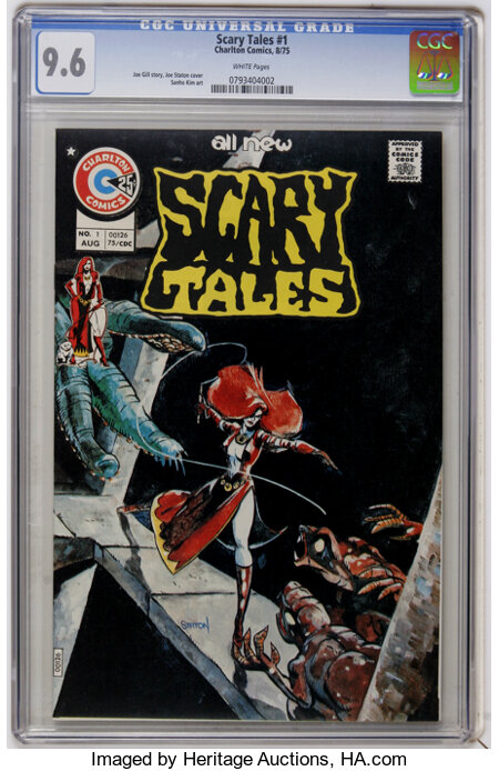 Scary Tales #1 (Charlton, 1975) CGC NM+ 9.6 White pages....