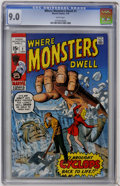 Bronze Age (1970-1979):Horror, Where Monsters Dwell #1 (Marvel, 1970) CGC VF/NM 9.0 White pages....