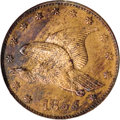 1855 P1C Flying Eagle Cent, Judd-167, Pollock-193, R.5, PR63 Red and Brown NGC....(PCGS# 11714)