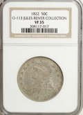 Bust Half Dollars: , 1822 50C VF35 NGC. O-113. Ex: Jules Reiver Collection. NGC Census:(11/419). PCGS Population (12/427). Mintage: 1,559,573. ...