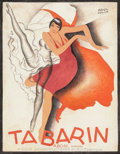 Works on Paper, PAUL COLIN (French, 1892-1985). Tabarin, 1928. Gouache and colored pencil on paper. 12-1/4 x 9-1/2 inches (31.1 x 24.1 c...
