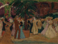 Fine Art - Painting, European:Modern  (1900 1949)  , GEORGES LEPAPE (French, 1887-1971). Moulin de la Galette,1907. Oil on board. 10-1/2 x 13-3/4 inches (26.7 x 34.9 cm). ...
