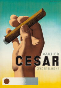 A.M. CASSANDRE (French, 1901-1968) Cesar, 1939 Lithograph in colors 50 x 35 inches (127 x 88.9 cm