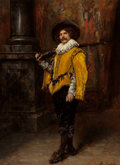 Fine Art - Painting, European:Antique  (Pre 1900), FERDINAND ROYBET (French, 1840-1920). The Musketeer. Oil onpanel. 28-1/2 x 21 inches (72.4 x 53.3 cm). Signed lower rig...