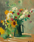 Paintings, MARTHE ORANT (French, 1874-1953). Still Life with Flowers. Oil on paperboard laid on canvas. 28-3/4 x 23-3/4 inches (73....
