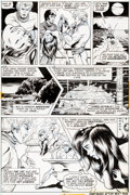 Original Comic Art:Panel Pages, Paty Greer and Bill Everett The Cat #3 Page 9 Original Art(Marvel, 1973)....