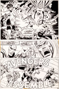Original Comic Art:Panel Pages, Bob Brown, Mike Esposito, and Frank Giacoia Avengers #118Page 22 Defenders Cross-Over Original Art (Marvel, 1973)...