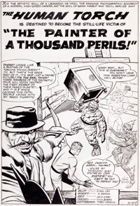 Jack Kirby and Dick Ayers Strange Tales #108 Splash Page 1 Fantastic Four Original Art (Marvel, 1963)