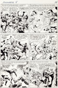 Original Comic Art:Panel Pages, Jack Kirby and Paul Reinman Avengers #5 Page 12 Original Art(Marvel, 1964)....
