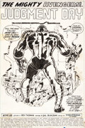 Original Comic Art:Splash Pages, Sal Buscema The Avengers #90 Page 1 Original Art (Marvel,1971)....