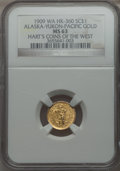 Alaska Tokens, 1909 Alaska Gold 1 DWT MS63 NGC. HK-360, Gould-Bressett 154. Alaska-Yukon-Pacific Exposition. Hart's Coins of the West....