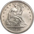 Seated Half Dollars, 1875-S 50C Very Small S, WB-101, Die Pair 7, R.3, MS66 PCGS. CAC....