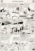 Original Comic Art:Panel Pages, Curt Swan and George Klein Action Comics #304 Page 4Original Art (DC, 1963)....